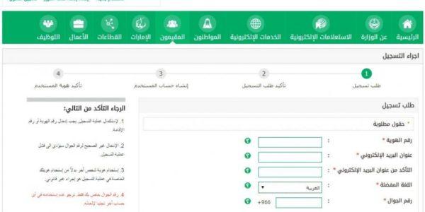 التسجيل في الجوازات